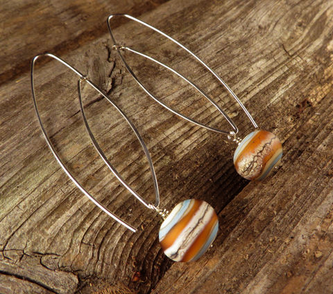 Women's,Earrings,,Argentium,Sterling,Silver,,Lampwork,Glass,,Womens,Everyday,jewelry,Dramatic earrings, Argentium_Silver,lampwork glass,nickel_free, Everyday jewelry, women's jewelry, Summer jewelry, Made in USA