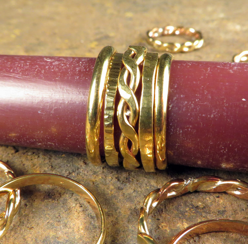 Stacking Rings, Brass, Women's Everyday Jewelry - product images  of