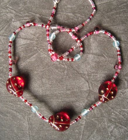 Girls,Jewelry,,Red,Ladybugs,Beaded,Necklace,,Magnetic,Clasp,Children,Jewelry,Necklace,beaded,valentines,pink,ladybug,red,girl,spring,cute,bug,silver,magnetic_clasp,princess,Czech_Glass_beads,czech_glass_beads,drop_beads,sterling_silver_hardware,silk_cord,lead_safe_magnetic_clasp