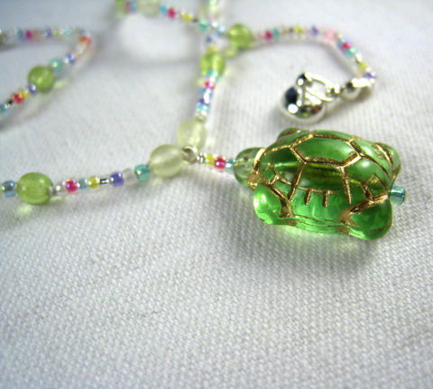 Girls,Jewelry,,Turtle,Necklace,,Kids,,Multi-Colored,Beads,,Magnetic,Clasp,Children,Jewelry,Necklace,Turtles,Magnetic_Clasp,multi_colored,rainbow,green,cheerful,light,little_girls,kids,birthday,holiday,christmas,little_peeps,czech_glass_beads,japanese_seed_beads,argentium_silver_findings,lead_safe_magnetic_clasp