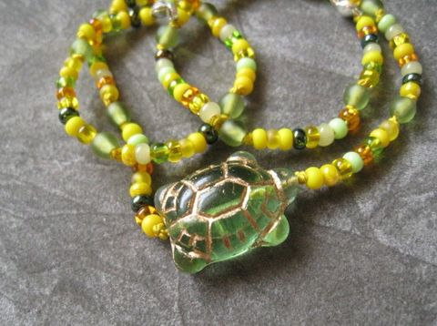 Kids,Jewelry,,Green,Turtle,Necklace,,Czech,Glass,,Yellow,Seed,Children,Jewelry,Necklace,turtle,green,yellow,sunshine,kids,nature,little_girl,little_peeps,handmade,magnetic_clasp,czech_glass,Team_Made_in_Italy,czech_glass_beads,sterling_silver_hardware,silk_cord,silver_plated_lead_safe_magnetic_clasp
