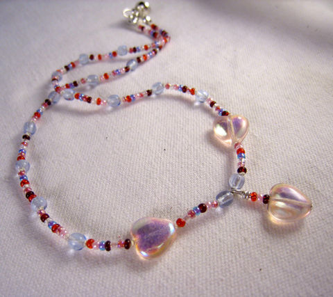 Girls,Jewelry,,Pink,Hearts,Beaded,Necklace,,Magnetic,Clasp,,Princess,Childrens,Jewelry,Children,Necklace,beaded,valentines,pink,red,girl,cute,silver,magnetic_clasp,princess,Czech_Glass_beads,heart,gift,birthday,czech_glass_beads,drop_beads,sterling_silver_hardware,silk_cord,lead_safe_magnetic_clasp