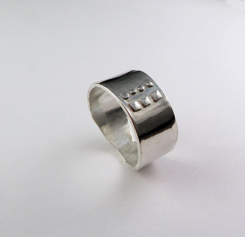 Ring,/,Argentium,Sterling,Silver,Wide,Band,Silver ring, chunky jewelry, rings for him, wedding band, argentium silver, mens jewelry