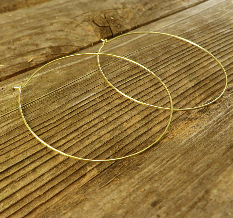 Large Hoop Earrings, Gold-filled wire, Womens Jewelry - product image