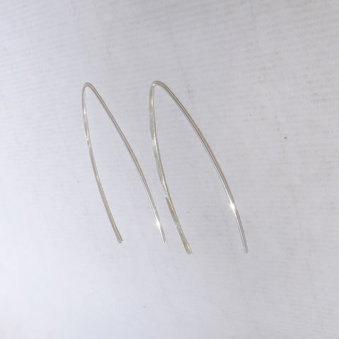 Sterling,Silver,Wishbone,Earrings,,Made,of,Hammered,Argentium,Jewelry,Earrings,Argentium_Silver,large_hoops,nickel_free,gift,holiday,birthday,ecclectic,rondelle,Argentium_Sterling_Silver, Hammered, Texture