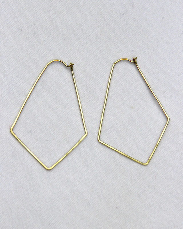 Geometric Hoop Earrings, Gold-Filled, Womens Jewelry - product image