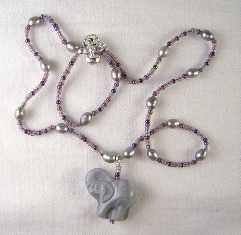 Girls,Jewelry,,Czech,Glass,Elephant,,Purple,Bead,&,Freshwater,Pearl,Necklace,,Magnetic,Clasp,Children,Jewelry,Necklace,Freshwater_pearls,magnetic_clasp,pink,kid_jewelry,beaded,lead_safe,colorful,little_girl,czech_glass,elephant,purple,grey,Freshwater Pearls,Argentium Sterling Silver findings,silver plated lead safe magnetic clasp,silk cord