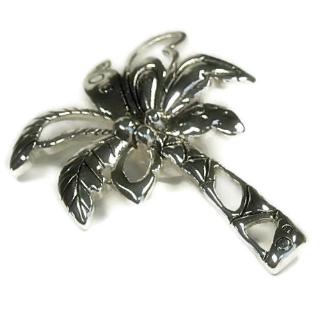 Palm,Tree,Magnetic,Clip,On,Pendant,magnetic pendant silver palm tree, clip on pendant, palm tree magnetic pendant, beach pendant, summer, removeable, interchangeable