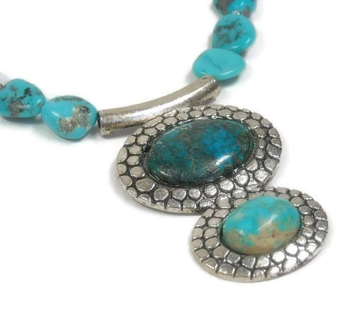 Genuine,Turquoise,Necklace,,Handmade,Pendant,,Troy,Springs,Vintage,Turquoise,,Southwest,,Real,Collectible,December,Birthstone,Jewelry, Necklace, Genuine Turquoise, Gemstone, Troy Springs Mine, Southwest, Collectible, Cowgirl, Turquoise Nuggets, Western, Real Turquoise, Vintage Turquoise, December Birthstone