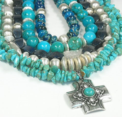Turquoise,Necklace,,Genuine,Turquoise,,Multistrand,,Multi,Strand,,Layered,Real,Chunky,,Jewelry,,Statement,Jewelry,Necklace,Turquoise_Necklace,Turquoise_Jewelry,layered_necklace,Genuine_Turquoise,real_turquoise,chunky_turquoise,mixed_turquoise,southwest_western,multistrand,multi_row_necklace,stacked_turquoise,cross_pendant,lapis_lazuli,bail,crimp beads,49 stra