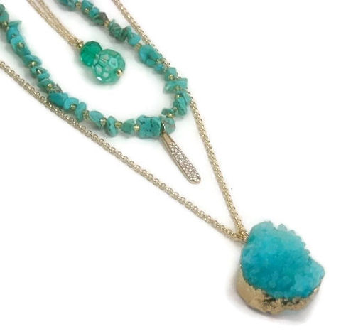 Three,Layer,Necklace,,Druzy,,Layering,,Boho,Chic,,Turquoise,Layered,Multistrand,,Multi,,Stacking,Drusy,,Longandlayered,Jewelry,Necklace,Long_Layer_Necklace,Layered_chains,Boho_Chic,multi_strand,druzy_necklace,druzy_jewelry,druze_drusy_geode,turquoise_necklace,turquoise_jewelry,Stacked_Necklace,bohemian_boho,longandlayered,black_friday_cyber_m,gold plated chain,gold plated