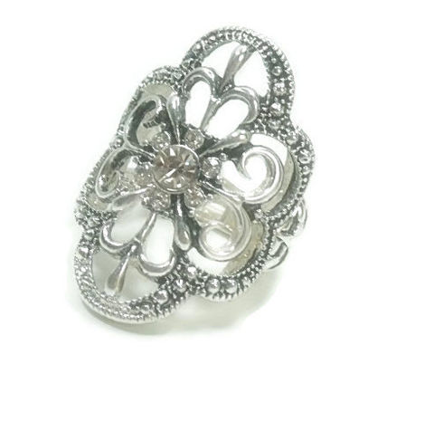 Victorian,Stretch,Ring,-,Adjustable,Filigree,Metal,Rhinestone,Silver,Statement,Long,Boho,Jewelry,Stretch_Ring,adjustable,stacking_ring,filigree_ring,victorian_style,boho_bohemian,rhinestone_ring,knuckle_ring,silver_ring,avant_garde_ring,mutifinger_ring,statement_ring,black_friday_cyber_m,metal ring bands,curved filigree with rhinestones