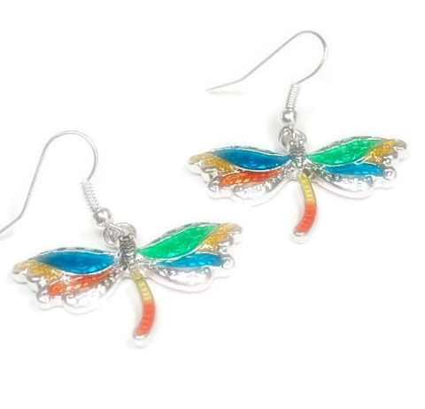Dragonfly,Earrings,-,Multicolor,Dragonflies,Jewelry,Nature,Summer,Boho,Chic,Bug,Insect,Teen,dragonfly_earrings,dragonfly_jewelry,bug_jewelry,symbolic_bug,dangle_earrings,delicate_petite,boho_chic,nature_jewelry,teen_earrings,symbolic_dragonfly,summer,multicolor,black_friday_cyber_m,dragonfly charm,silver plated earwires,enamel