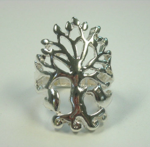 Silver Filigree Tree of Life Stretch Ring - product images  of