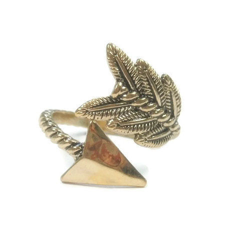 Gold Arrow Spiral Open Ring - product images  of