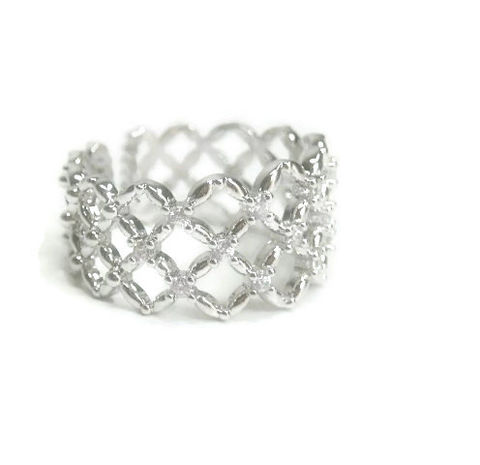 Rhodium,and,Cubic,Zirconia,Midi,Cuff,Ring,Band,Rhodium Cuff Ring, rhodium ring, cubic zirconia_ring, gemstone ring band, midi ring, basket weave, stackable ring, bridal bride wedding engagement, sparkling evening ring
