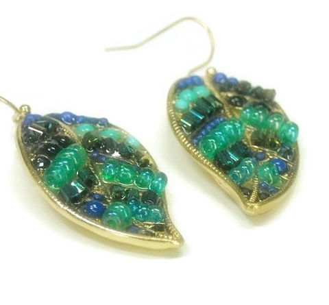 Beaded,Leaf,Dangle,Earrings,-,Fall,Turquoise,and,Blue,Leaves,Autumn,Bohemian,Feather,Jewelry,Leaf_Earrings,Leaf_Jewelry,Beaded_Leaves,Autumn_Finds,Fall_Earrings,Turquoise_Blue,Leaf_Dangle,Bohemian_Earrings,Beaded_Feather,Bohemian_Jewelry,Big_Boho_Earrings,black_friday_cyber_m,leaf charms,seed beads,bugle beads,go