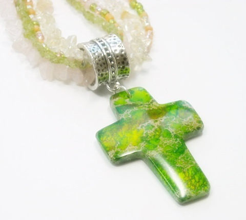 Cross,Necklace,-,Multi,Strand,Mixed,Gemstones,Rose,Quartz,,Peridot,,Citrine,Pink,,Green,Jewelry,Handmade,Easter,Gemstone_Necklace,Mixed_Gemstones,Multistrand_Necklace,Rose_Quartz,Peridot_Necklace,Citrine_Necklace,Pastel_Necklace,Pink__And_Lime_Green,Cross_Necklace,Spring_Summer,Cross_Jewelry,layered_necklace,removable_pendant,rose quartz chips,peri