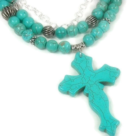 Turquoise,Necklace,,Cross,Southwest,,Jewelry,,Multisrand,,Statement,,Layered,Boho,,Cowgirl,,Chunky,,Gemstone,Jewelry,Necklace,Cross_Necklace,Cross_Jewelry,Turquoise_Necklace,Turquoise_Jewelry,Religious_Jewelry,Southwest_Jewelry,Western_Jewelry,black_friday_cyber_m,multi_layer_necklace,multi_strand,gemstone_necklace,multistrand,religious,bail,crimp beads,beading