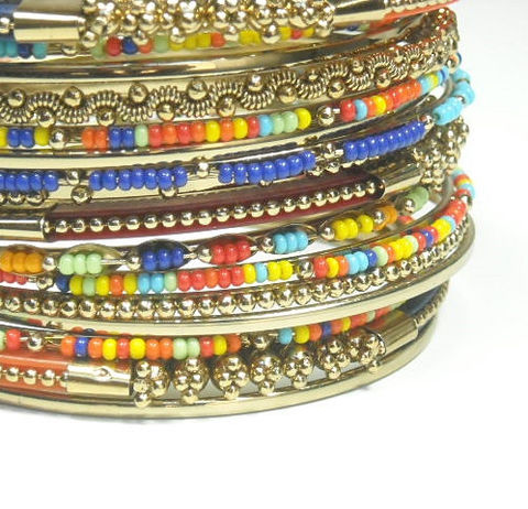 Bohemian,Bangles,Stack,of,15,Stackable,Bracelets,Beaded,Bangle,Set,Gypsy,Hippie,Trending,Multicolor,Retro,60s,Jewelry,Bracelet,bangle_bracelets,set_of_15,stacked_bangles,stackable_bracelets,muticolor,beaded,boho_chic,gypsy,hippie_bracelets,statement_jewelry,mix_and_match,trending_jewelry,black_friday_cyber_m,gold plate,seed beads,trim