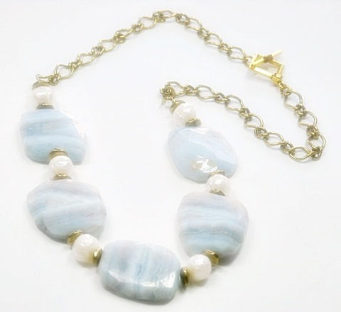 Blue,Lace,Agate,Necklace,-,Flat,Slab,&,Faceted,Pearl,Jewelry,Natural,Gemstones,lace_agate_necklace,lace_agate_slabs,banded_lace_agate,pearl_necklace,pearls_and_agate,faceted_pearls,pastel_blue_necklace,blue_white_gray,natural_jewelry,blue_lace_agate,black_friday_cyber_m,lace_agate_jewelry,statement,24mm natural lace