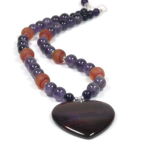 Gemstone,heart,necklace:,love,necklace,,Amethyst,purple,Valentines,jewelry,,gift,for,girlfriend,wife,anniversary,Jewelry,Necklace,love_necklace,gift_for_wife,heart_necklace,valentines_necklace,heart_jewelry,gemstone_heart,agate_heart_pendant,amethyst_necklace,stone_heart_necklace,purple_gemstone,gemstone_necklace,gift_for_girlfriend,february_birthstone,banded agate