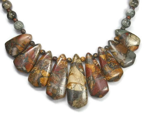 Picasso,Jasper,Necklace,-,Collar,Bib,Jewelry,Gemstone,Statement,Tribal,Graduated,Focal,picasso_jasper,jasper_necklace,picasso_stone,gemstone_necklace,graduated_focal,bib_collar_necklace,jasper_choker,autumn_fall_colors,earthy_colors,healing_chakra,natural_stone_choker,statement_necklace,black_friday_cyber_m,picasso jasper 9
