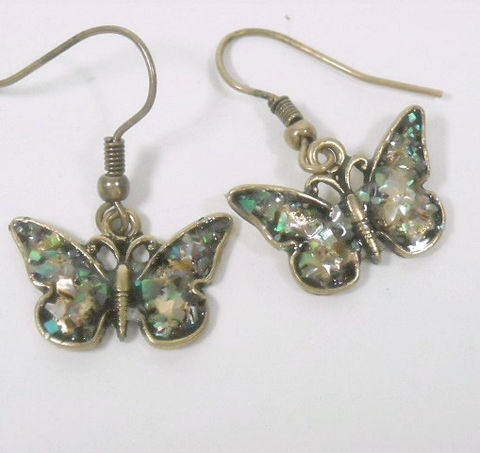 Butterfly,Earrings,-,Abalone,Dangle,Insect,Jewelry,Symbolic,Bug,Dragonfly,butterfly_earrings,butterfly_jewelry,butterfly_dangle,dangle_earrings,symbolic_butterfly,insect_jewelry,bug_jewelry,nature,abalone_butterfly,summer_garden,dragonfly,butterfly_charm,boho_earrings,butterfly charms,gold plate,abalone shards