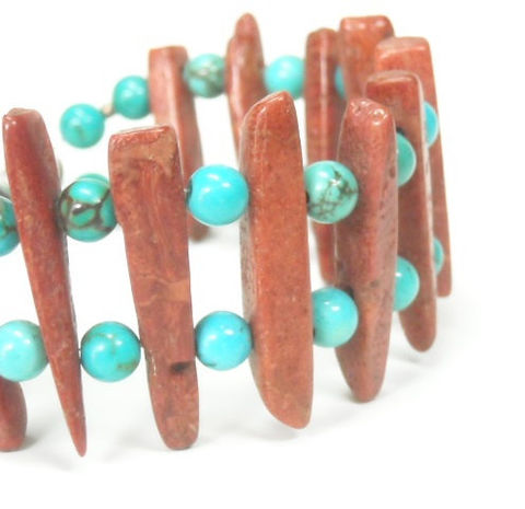 Tribal,Turquoise,Bracelet,-,and,Red,Creek,Jasper,Stick,Southwest,Jewelry,Gemstone,Boho,Turquoise_Bracelet,Genuine_Turquoise,Turquoise_Jewelry,Red_Jasper_Jewelry,Red_Jasper_Sticks,Tribal_Bracelet,Cuff,Natural_Jewelry,Gemstone_Bracelet,Handmade,Stick_Bracelet,black_friday_cyber_m,7mm blue gem turquoise rounds,natura