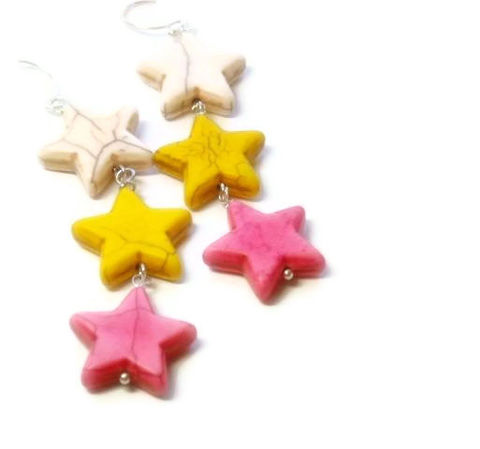 Neon,Star,Earrings,,Pink,,White,,Yellow,,Jewelry,,Dangle,,Patriotic,,Americana,,Boho,,Hippie,,Southwest,Jewelry,Earrings,star_earrings,cowgirl_earrings,star_jewelry,patriotic_earrings,americana,dangle_earrings,neon_earrings,rocker_earrings,neon_pink,neon_yellow,white_pink_yellow,neon_stars,black_friday_cyber_m,20mm magnesite stars,ball end pins,eye pins,sil
