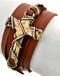 Leather,Bracelet,,Mens,Brown,Wrap,Bracelet,with,Cross,,Jewelry,,Accessories,,Unisex,,Rocker,,Multistrand,,Jewelry,Mens_Bracelet,Leather_Bracelet,Goth_Rocker,Mens_Jewelry,Unisex,guy_man_him_unisex,Mens_Accessories,Leather_Jewelry,adjustable,fathers_day,gifts_for_dad,brown_leather,cross_bracelet,bead embellishments,brown leather,gold plated chain,gold