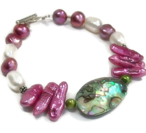 Biwa,Pearl,Bracelet,,Stick,Abalone,Jewelry,,Freshwater,Tribal,,Tropical,,Exotic,,June,Jewelry,Bracelet,Biwa_Pearl_Bracelet,Stick_Pearl_Bracelet,Freshwater_Pearl,June_Birthstone,Tropical,Exotic,Tribal_Bracelet,Abalone_bracelet,Pearl_jewelry,Abalone_jewelry,fuchsia_pearls,natural_jewelry,sterling_silver,biwa stick pearls,freshwater pearls,st