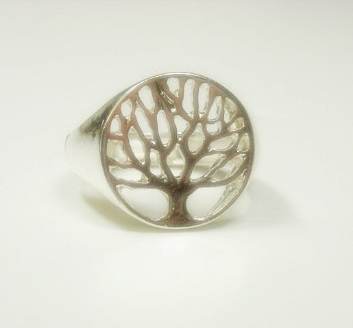 Silver Tree of Life Stretch Ring - product images  of