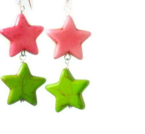 Neon,Star,Earrings,,Pink,,Lime,Green,,Jewelry,,Dangle,,Summer,Trend,,Boho,,Hippie,,Teen,Jewelry,Earrings,Stone,star_earrings,cowgirl_earrings,star_jewelry,patriotic_earrings,americana,dangle_earrings,neon_earrings,rocker_earrings,neon_pink,neon_stars,neon_lime_green,black_friday_cyber_m,beach,20mm magnesite stars,ball end pins,eye pins,silve