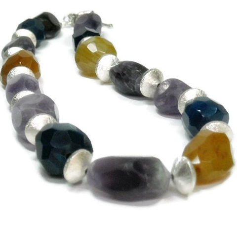 Mixed,Gemstone,Necklace,,Super,Chunky,Chalcedony,Statement,Jewelry,,Amethyst,Nuggets,,Stone,Boho,Bohemian,,Rocker,,Jewelry,Necklace,amethyst_necklace,Chalcedony_Necklace,mixed_stone_necklace,Statement_Necklace,chunky_stone_nuggets,Bold_Jewelry,multi_color,gemstone_necklace,designer_jewelry,chalcedony_nuggets,amethyst_jewelry,purple_blue_gold,color_block,16x29mm facete