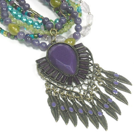 Tribal,Feather,Fringe,Necklace,,Mixed,Gemstone,Multistrand,Amethyst,Peridot,Pearl,Jewelry,,Bohemian,,Southwest,,Statement,,Jewelry,Necklace,Fringe_Necklace,Tribal_Necklace,Bohemian_Boho,Amethyst_Necklace,Feather_Jewelry,Statement_Necklace,Southwest_Necklace,Deep_Purple,Fringe_Pendant,multistrand,peridot,mixed_gemstones,black_friday_cyber_m,brass eye pins,brass chain links,6mm