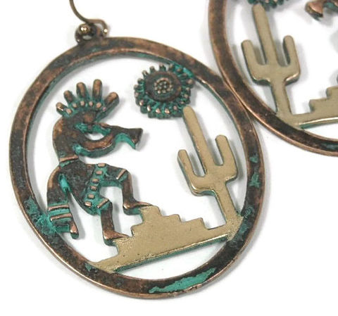 Artistic,Southwest,Earrings,Patina,Gold,Cactus,Kokopelli,Sun,Scene,Cutout,Dangle,Metalwork,Aztec,Folklore,Art,Native,Jewelry,kokopelli_earrings,artistic_metal,cutout_scene,cactus_earrings,sun_earrings,native_picture,mixed_metal,dangle_earrings,southwest_jewelry,art_earrings,patina_and_gold,native_art,handmade,metal,patina,earwires