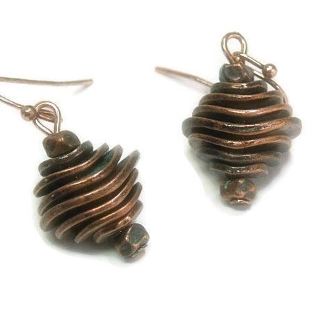 Copper,Patina,Disk,Earrings,-,Graduated,Dangle,Square,Geometric,Boho,Chic,Mod,Hippie,Funky,Fun,Jewelry,abstract_earrings,dangle_earrings,industrial,graduated_disks,geometric,boho_chic,mod_modern,minimalist,abstract_jewelry,architectural,pyramid_earrings,metal_disk_earrings,black_friday_cyber_m,copper disks,copper earwires,patina