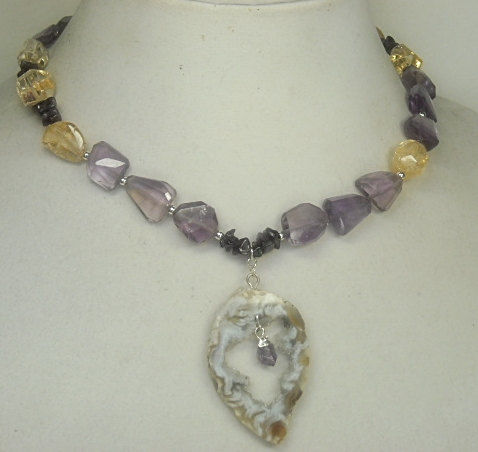 Ametrine,Nugget,Necklace,,Druzy,Pendant,,Citrine,,One,of,a,Kind,,Chunky,and,Citrine,February,,November,,Natural,Gems,Jewelry,Necklace,geode_pendant,druzy_necklace,ametrine_necklace,citrine_necklace,ametrine_jewelry,drusy_druze_druse,geode_necklace,natural_gemstones,one_of_a_kind_ooak,february_birthstone,november_birthstone,ametrine_geode_slice,black_friday_cyber_m,ametr