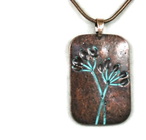 Flower,Pendant,Necklace,,Stamped,Copper,Verdigris,Patina,Floral,Pendant,,Rustic,,Art,Deco,,Necklace,Set,,Bohemian,Jewelry,,Chain,,Nature,Jewelry,flower_necklace,flower_jewelry,copper_patina,floral_jewelry,turquoise_patina,copper_flower,rustic_boho,art_deco_flower,flower_pendant,necklace_set,tree_earrings,minimalist_necklace,stamped_pendant,patina,lobster clasp,copper flower pendan