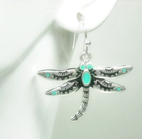 Dragonfly,Earrings,-,Dangle,Turquoise,Stamped,Jewelry,Nature,Summer,Boho,Chic,Insect,Bug,dragonfly_earrings,dragonfly_jewelry,bug_jewelry,symbolic_bug,dangle_earrings,boho_chic,nature_jewelry,symbolic_dragonfly,summer,insect_earrings,metal_dragonfly,turquoise,black_friday_cyber_m,dragonfly charm,silver plated earwires,turquoi