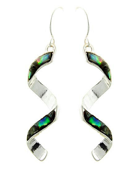 Abalone Spiral Earrings - product images  of