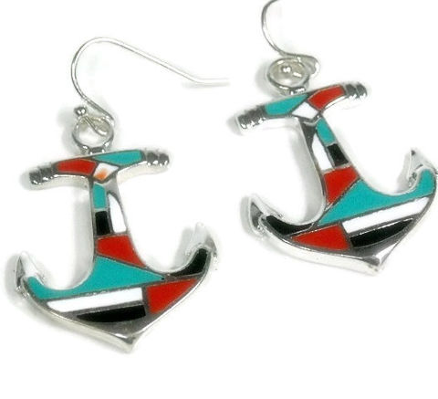 Anchor,Earrings,,Jewelry,,Red,,Black,,Turquoise,Inlay,,Nautical,Beach,Summer,,Boating,,Dangle,Earring,Jewelry,Earrings,anchor_earrings,anchor_jewelry,nautical_earrings,sea_life,nautical_jewelry,summer,beach,boating_sailing,anchor,inlay_anchor,red_black_white,turquoise,dangle_drop_anchor,anchor pendants,silver plated ear wires