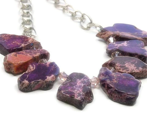 Purple,Impression,Jasper,Necklace,-,,Sea,Sediment,Necklace,,Chunky,Freeform,Slabs,,Aqua,Terra,,Tribal,,Southwest,,Statement,Jewelry,Jasper_Necklace,Impression_Jasper,Sea_Sediment_Jasper,Chunky_Jasper,Tribal_Necklace,Jasper_Slabs,Boho_Jewelry,Jasper_Focal,Radiant_Orchid,Sangria,Aurora_Red,black_friday_cyber_m,24mm  freeform impression jasper slabs,6mm vintage ro