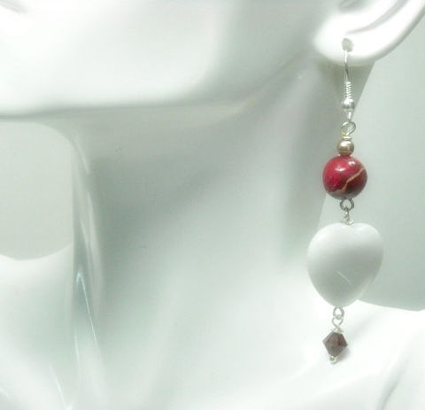 Heart,Earrings,,White,Jade,,Red,Impression,Jasper,,Gemstone,,Love,,Passion,,Jewelry,,Dangle,,Gift,For,Her,,Jewelry,Earrings,heart_earrings,jade_hearts,white_hearts,gemstone_hearts,impression_jasper,red_jasper_earrings,heart_jewelry,dangle_earrings,red_and_white,valentines_day,valentine_gift,gemstone_earrings,valentine_earrings,white jade hearts,6mm siam red sw