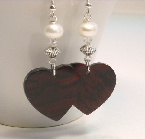 Red,Paua,Shell,Heart,Earrings,with,Pearls,,Abalone,Earrings,,Valentine,,Love,,Jewelry,,Valentines,Day,Jewelry,heart_earrings,red_hearts,red_earrings,valentine_earrings,valentine_gift,pearl_earrings,dangle_earrings,paua_shell_hearts,love_romance,dark_red,gift_for_her,valentines_day,black_friday_cyber_m,9mm freshwater button pearls,4mm swarovski cr