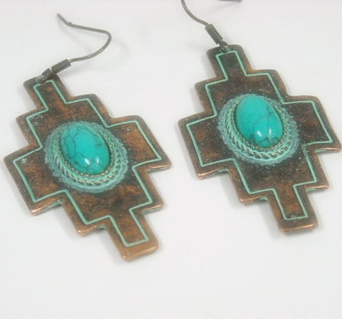 Turquoise,Cross,Earrings,-,Stamped,Copper,Jewelry,Southwest,Religious,Cowgirl,Rustic,Statement,Western,cross_earrings,cross_jewelry,rustic_cross,religious_cross,southwest_cross,cowgirl_jewelry,turquoise_jewelry,turquoise_earrings,stamped_copper,turquoise_cross,cross_dangle,dangle_earrings,tt_tpt_123_punks,copper,copper earwires,turquoise c