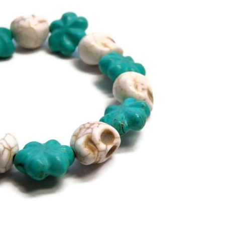 Turquoise,Skull,Bracelet,Cowgirl,Girly,Stretch,Day,of,the,Dead,Dia,de,los,Muertos,Halloween,Jewelry,Beaded,Dia_De_Los_Muertos,Day_Of_The_Dead,Gemstone_Bracelet,Skull_Bracelet,Halloween_Bracelet,Turquoise_Bracelet,Stretch_Bracelet,Cowgirl_Bracelet,Southwest_Jewelry,Skull_Jewelry,Bangle,black_friday_cyber_m,magnesite skulls,magnesit
