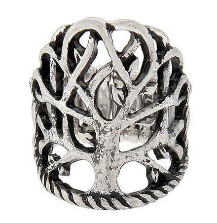 CIJ  Tree of Life Ring - Adjustable Metal Tree of Life Ring - Woodland - Nature - Symbolic Jewelry- Family Tree - Symbolic Tree - Branch - product images  of