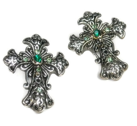 Cross,Earrings,,Emerald,Green,,Post,jewelry,,Minimalist,,Religious,,Spiritial,,Silver,,Southwest,,Boho,,Earrings,Jewelry,cross_earrings,cross_charm,cross_jewelry,religious,symbolic,metal_cross,spiritual,minimalist_earrings,ornate_cross,silver_cross,post_earrings,green_rhinestones,rhinestone_cross,earwires,silver plated cross charm